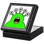 Kawaii Green Alien Monster Keepsake Box