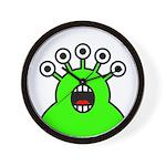 Kawaii Green Alien Monster Wall Clock