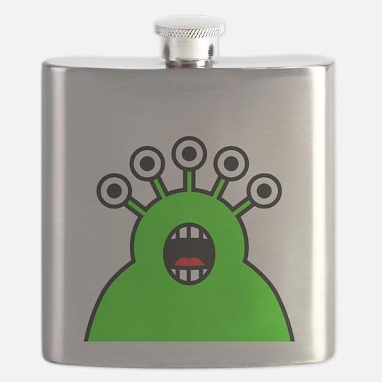 Kawaii Green Alien Monster Flask