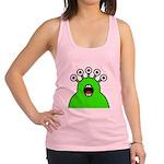 Kawaii Green Alien Monster Racerback Tank Top