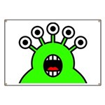 Kawaii Green Alien Monster Banner
