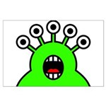 Kawaii Green Alien Monster Large Poster