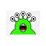 Kawaii Green Alien Monster 5'x7'Area Rug