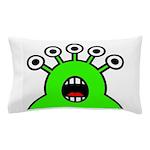 Kawaii Green Alien Monster Pillow Case