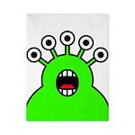 Kawaii Green Alien Monster Twin Duvet