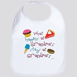 """What happens at Grandma's stays at Grandma's"" Bib"