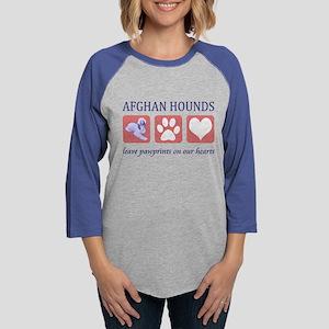 FIN-afghan-hound-pawprints- NEW Womens Basebal