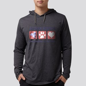 FIN-afghan-hound-pawprints- NEW Mens Hooded Sh