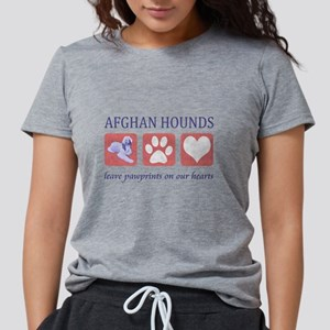 FIN-afghan-hound-pawprints- NEW Womens Tri-ble