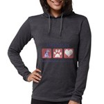 FIN-airedale-terrier-pawprints Womens Hooded S
