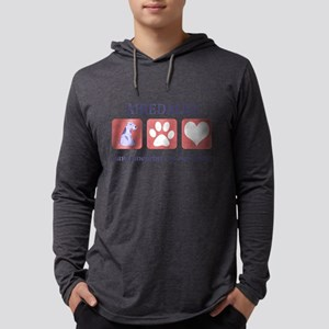 FIN-airedale-terrier-pawprints Mens Hooded Shi