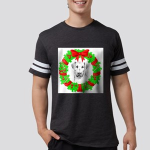 airedale-terrier-christmas Mens Football Shirt