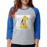 airedale-terrier Womens Baseball Tee