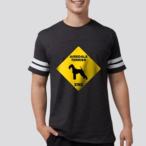 Airedale Terrier Crossing Sign Mens Football Shirt