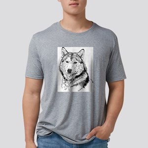 Alaskan Malamute Mens Tri-blend T-Shirt