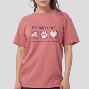 FIN-eskimo-dogs-pawprints Womens Comfort Color