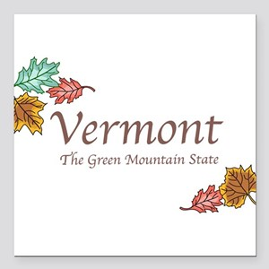 "Vermont Square Car Magnet 3"" x 3"""