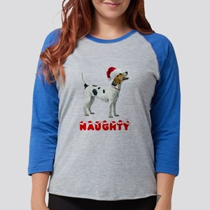 Naughty American Foxhound Womens Baseball Tee