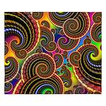 Funky Rainbow Swirl Pattern King Duvet