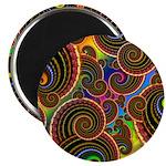 Funky Rainbow Swirl Pattern Magnet