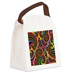 Funky Rainbow Swirl Pattern Canvas Lunch Bag