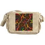 Funky Rainbow Swirl Pattern Messenger Bag
