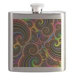 Funky Rainbow Swirl Pattern Flask