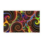 Funky Rainbow Swirl Pattern 35x21 Wall Decal