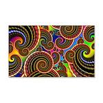 Funky Rainbow Swirl Pattern 20x12 Wall Decal