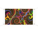 Funky Rainbow Swirl Pattern Banner