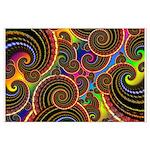 Funky Rainbow Swirl Pattern Large Poster