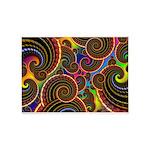 Funky Rainbow Swirl Pattern 5'x7'Area Rug