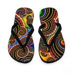 Funky Rainbow Swirl Pattern Flip Flops