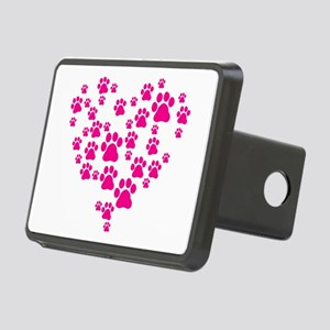 Heart of Paw Prints Rectangular Hitch Cover