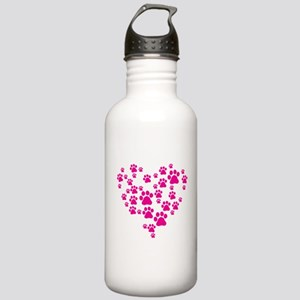 Heart of Paw Prints Stainless Water Bottle 1.0L