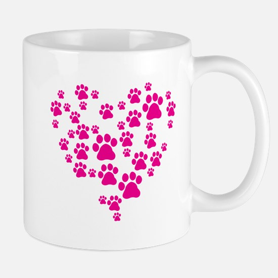 Heart of Paw Prints Mug