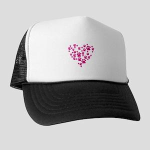 Heart of Paw Prints Trucker Hat