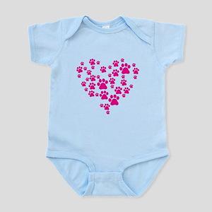 Heart of Paw Prints Infant Bodysuit
