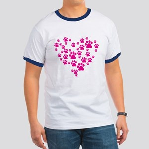Heart of Paw Prints Ringer T