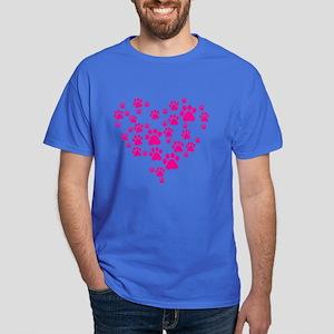 Heart of Paw Prints Dark T-Shirt