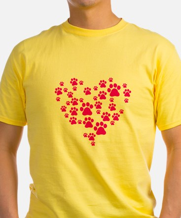 Heart of Paw Prints T