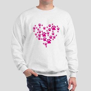 Heart of Paw Prints Sweatshirt