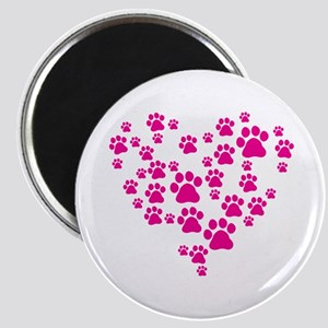 Heart of Paw Prints Magnet