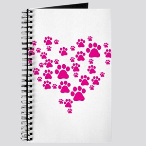 Heart of Paw Prints Journal
