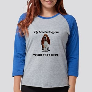 Personalized Basset Hound Womens Baseball Tee