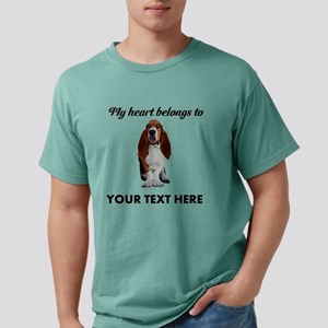 Personalized Basset Hound Mens Comfort Colors Shir
