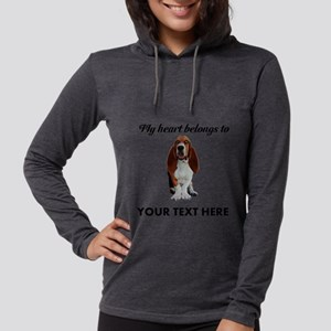 Personalized Basset Hound Womens Hooded Shirt