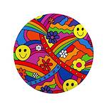 Hippie Smiley Rainbow Pattern 3.5
