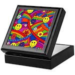 Hippie Smiley Rainbow Pattern Keepsake Box
