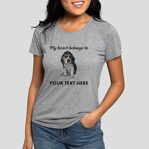 Personalized Beagle Custom Womens Tri-blend T-Shir